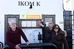 21-9-2017: Wondering who was the winner who purchased the winning ticket at Mary Murphy, Post Mistress, Rerrin Post Office on Bere Island in County Cork are Kieran Ahern, Frank and Ann Wright on the ferry to Bere Island on Thursday.<br />  Photo: Don MacMonagle<br /> <br /> Issued on behlf of The National Lottery