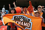 18 November 2007: Houston fans. The Houston Dynamo defeated the New England Revolution 2-1 at RFK Stadium in Washington, DC in MLS Cup 2007, Major League Soccer's championship game.