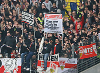 Galgenhumor der VfB Fans - 31.03.2019: Eintracht Frankfurt vs. VfB Stuttgart, Commerzbank Arena, DISCLAIMER: DFL regulations prohibit any use of photographs as image sequences and/or quasi-video.