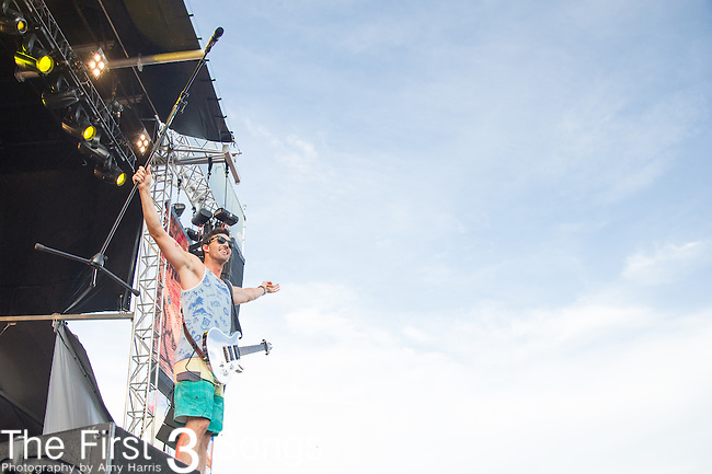 Jake Owen performs onstage during The Tortuga Music Festival in Fort Lauderdale, Florida.