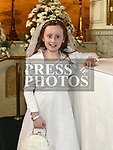 Angeleen McQuillan from St Brigids school who recieved first holy communion in Our Lady of Lourdes church. Photo:Colin Bell/pressphotos.ie