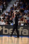 Real Madrid's coach Pablo Laso during Turkish Airlines Euroleague between Real Madrid and Brose Bamberg at Wizink Center in Madrid, Spain. December 20, 2016. (ALTERPHOTOS/BorjaB.Hojas)
