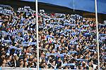 10.04.2019, Schauinsland-Reisen-Arena, Duisburg, GER, 2. FBL, MSV Duisburg vs. 1. FC Koeln,<br />  <br /> DFL regulations prohibit any use of photographs as image sequences and/or quasi-video<br /> <br /> im Bild / picture shows: <br /> Fans Duisburger <br /> <br /> Foto © nordphoto / Meuter