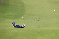Justin Rose (ENG) chips from a bunker at the 8th green during Sunday's Final Round of the 148th Open Championship, Royal Portrush Golf Club, Portrush, County Antrim, Northern Ireland. 21/07/2019.<br /> Picture Eoin Clarke / Golffile.ie<br /> <br /> All photo usage must carry mandatory copyright credit (© Golffile | Eoin Clarke)
