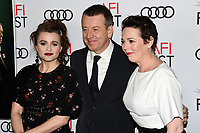 """16 November 2019 - Hollywood, California - Helena Bonham Carter, Peter Morgan, Olivia Colman. AFI FEST 2019 Presented By Audi – """"The Crown"""" Premiere held at TCL Chinese Theatre. Photo Credit: Billy Bennight/AdMedia"""