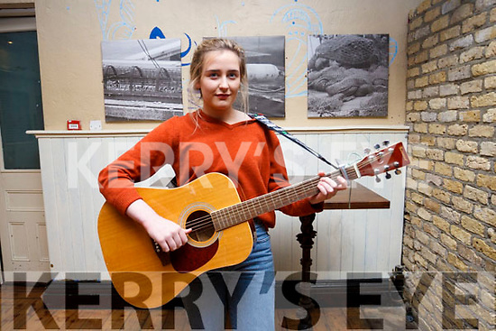 Claire Fealey of Carragh Lake, Killorglin practicing before  her audition for Britains Got Talent at the Ashe Hotel on Monday last