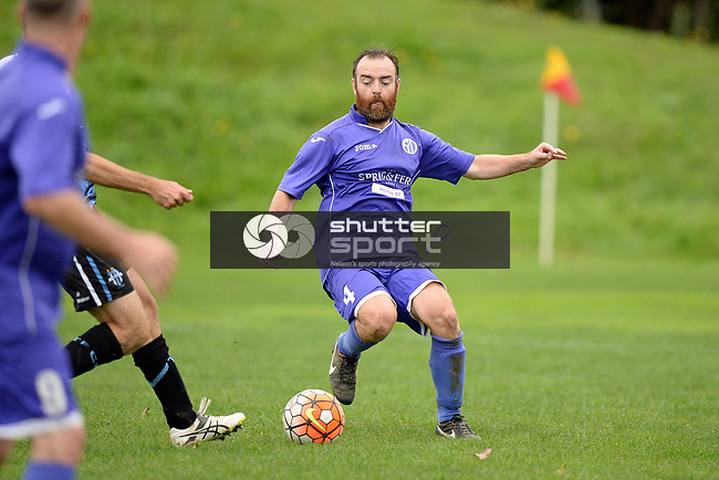 NELSON, NEW ZEALAND - APRIL 29: FC Nelson Locomotive v Tahuna 2nd XI, April 29, 2017, Guppy Park, Nelson, New Zealand. (Photo by: Barry Whitnall Shuttersport Limited)