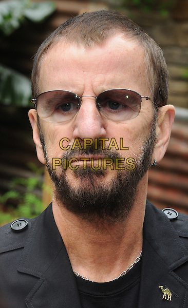 Ringo Starr.RHS Chelsea Flower Show Press and VIP Day at Royal Hospital Chelsea, London, England..May 21st 2012.headshot portrait black beard facial hair sunglasses shades  .CAP/PP/BK.©Bob Kent/PP/Capital Pictures.
