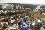 Gangneung Olympic Village, Oct 30, 2017 : Cityscape from Gangneung Olympic Village, the athletes' village of the 2018 PyeongChang Winter Olympics is seen in Gangneung, east of Seoul, South Korea. The 23rd Winter Olympics will be held for 17 days from February 9 - 25, 2018. The opening and closing ceremonies and most snow sports will take place in PyeongChang county. Jeongseon county will host Alpine speed events and ice sports will be held in the coast city of Gangneung. (Photo by Lee Jae-Won/AFLO) (SOUTH KOREA)