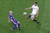 Sevilla FC's Franco Vazquez (r) and FC Barcelona's Andres Iniesta during Spanish King's Cup Final match. April 21,2018. (ALTERPHOTOS/Acero)
