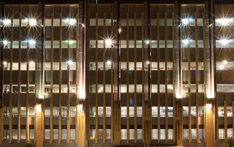 19 July 2010 -- Daily picture for July 19, 2010. Buildings and parking garages at night in downtown Omaha, Nebraska. PHOTO/Daniel Johnson (Copyright 2010 Daniel Johnson)
