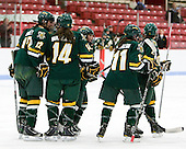 Celeste Doucet (Vermont - 12), Peggy Wakeham (Vermont - 14), Kailey Nash (Vermont - 7), Emily Walsh (Vermont - 11), Saleah Morrison (Vermont - 4) - The Boston University Terriers tied the visiting University of Vermont Catamounts 2-2 on Saturday, November 13, 2010, at Walter Brown Arena in Boston, Massachusetts.