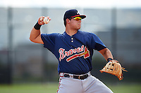 Atlanta Braves third baseman Juan Yepez (92) during an Instructional League game against the Houston Astros on September 26, 2016 at Osceola County Stadium Complex in Kissimmee, Florida.  (Mike Janes/Four Seam Images)