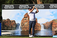 Sam Horsfield (ENG) in action on the 12th during Round 2 of the ISPS Handa World Super 6 Perth at Lake Karrinyup Country Club on the Friday 9th February 2018.<br /> Picture:  Thos Caffrey / www.golffile.ie<br /> <br /> All photo usage must carry mandatory copyright credit (&copy; Golffile | Thos Caffrey)