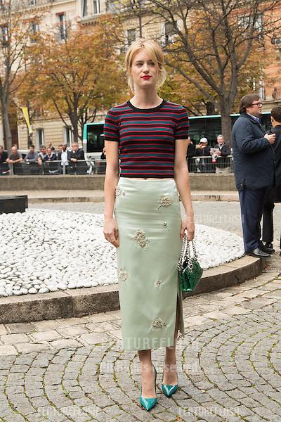 Mackenzie Davis attend Miu Miu Show Front Row - Paris Fashion Week  2016.<br /> October 7, 2015 Paris, France<br /> Picture: Kristina Afanasyeva / Featureflash