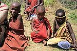 Africa, Kenya, Maasai Mara. Children of the Mara.