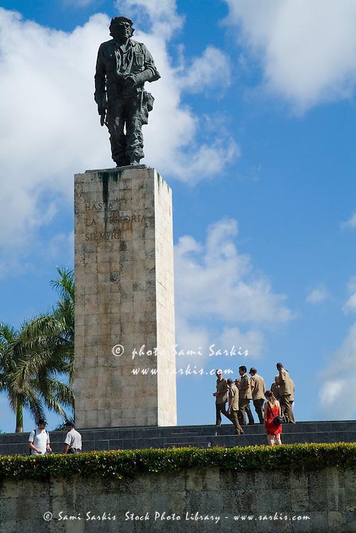 Che Guevara Memorial Statue on the Plaza de la Revolucion, Santa Clara, Villa Clara, Cuba.