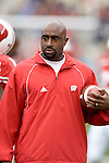 MADISON, WI - SEPTEMBER 9: Assistant coach Kerry Cooks of the Wisconsin Badgers watches the Badgers during warmups prior to the game against the Western Illinois Leathernecks at Camp Randall Stadium on September 9, 2006 in Madison, Wisconsin. The Badgers beat the Leathernecks 34-10. (Photo by David Stluka)