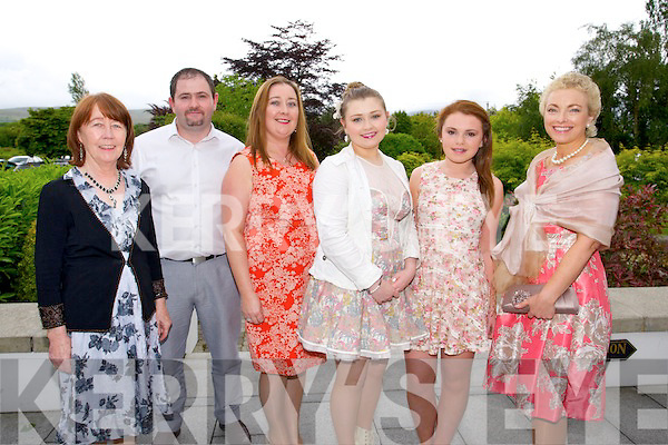Rose O'Connell, Michael O'Sullivan, Lorraine O'Sullivan, Laura Ashley O'Sullivan, Threase Keane, Teresa Keane at the Big Bus BBQ in aid of Keerry Cancer Support Group in the Pavillon Ballygary House Hotel on Sunday
