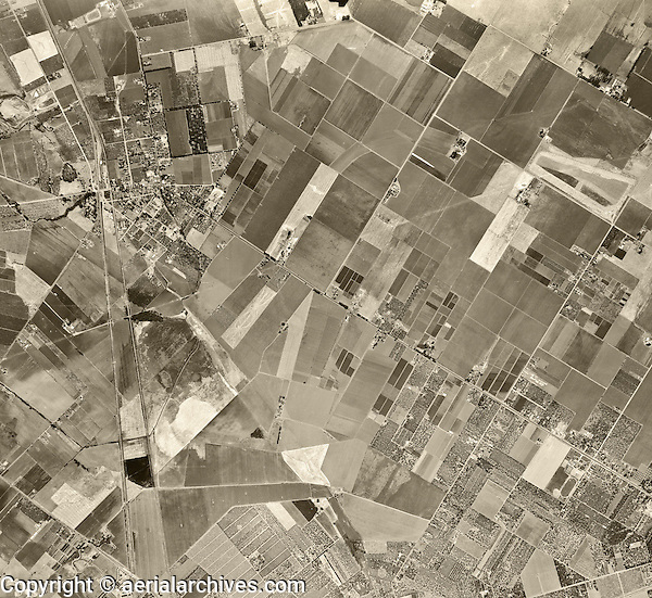 historical aerial photograph Fremont, California, 1948