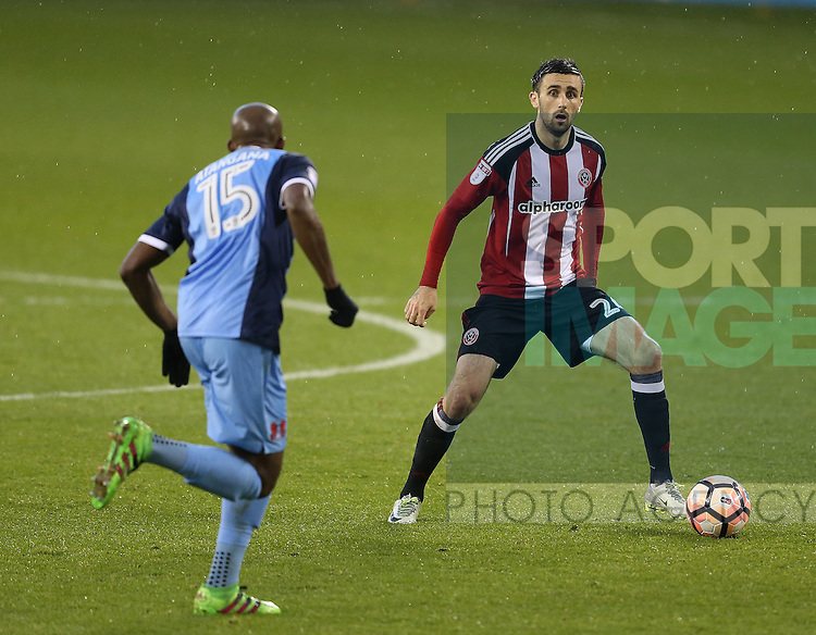 Danny Lafferty of Sheffield Utd during the Emirates FA Cup Round One match at Bramall Lane Stadium, Sheffield. Picture date: November 6th, 2016. Pic Simon Bellis/Sportimage
