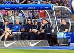 12.05.2018, OLympiastadion, Berlin, GER, 1.FBL, Hertha BSC VS. RB Leipzig, im Bild <br /> Cheftrainer (Head Coach) Pal Dardai (Hertha BSC Berlin), Manager Michael Preetz (Hertha BSC Berlin)<br /> <br /> <br />       <br /> Foto &copy; nordphoto / Engler