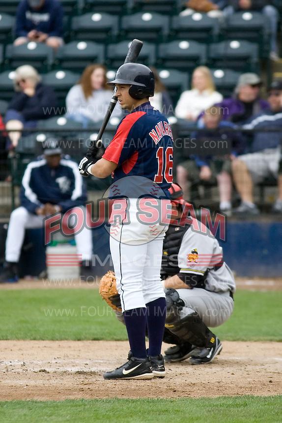 June 1, 2008: Tacoma Rainiers' Oswaldo Navarro at-bat during at Pacific Coast League game against the Salt Lake Bees at Cheney Stadium in Tacoma, Washington.