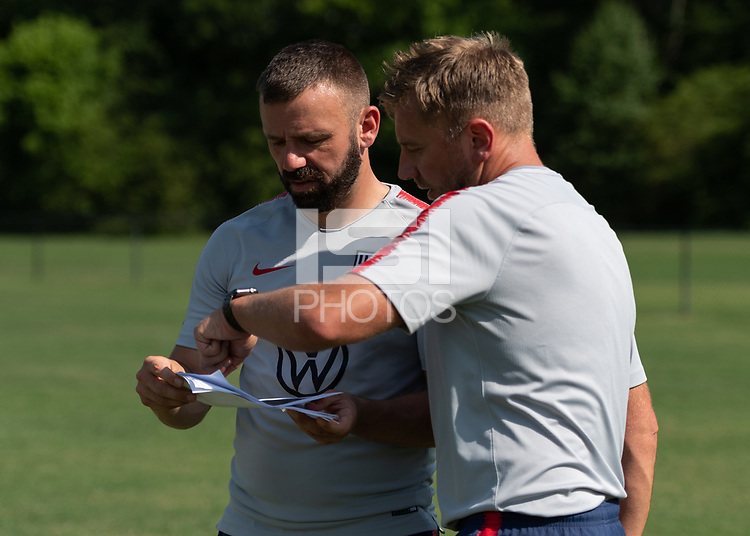 Rome, GA - Friday, June 21, 2019:  Ross Moffat, Stuart Sharp during a Para 7 USMNT training session.