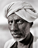 ERITREA, Saroita, portrait of an Afar man Mr. Bedri in front of his home in the small village of Saroita
