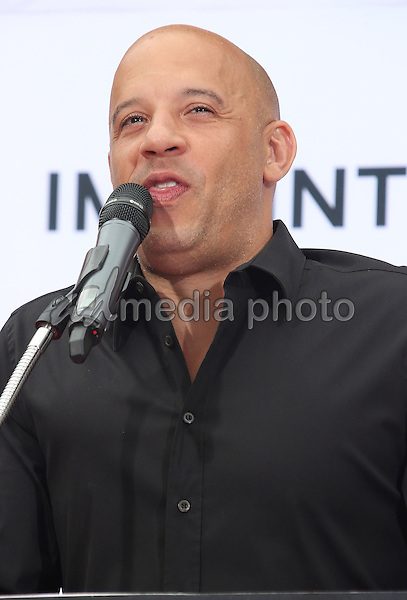 03 June 2015 - Hollywood, California - Vin Diesel. TCL Chinese Theatre IMAX 88th Birthday Hand Print Ceremony held at the at The TCL Chinese Theatre IMAX. Photo Credit: F. Sadou/AdMedia