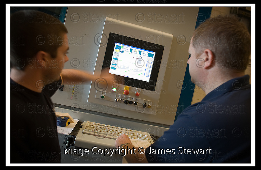 26/08/2008  Copyright Pic: James Stewart.File Name : 21_goodwood.GOODWOOD TIMBER HOMES.TRAINING ON THE WEINMANN PROI LINE WBZ 150 BEAM PROCESSING STATION.James Stewart Photo Agency 19 Carronlea Drive, Falkirk. FK2 8DN      Vat Reg No. 607 6932 25.James Stewart Photo Agency 19 Carronlea Drive, Falkirk. FK2 8DN      Vat Reg No. 607 6932 25.Studio      : +44 (0)1324 611191 .Mobile      : +44 (0)7721 416997.E-mail  :  jim@jspa.co.uk.If you require further information then contact Jim Stewart on any of the numbers above........