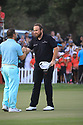 Shane Lowry (IRL) and Richard Sterne (RSA) during the final round of the Abu Dhabi HSBC Championship presented by EGA played at Abu Dhabi Golf Club, Abu Dhabi, UAE. 17/01/2019<br /> Picture: Golffile | Phil Inglis<br /> <br /> All photo usage must carry mandatory copyright credit (© Golffile | Phil Inglis)