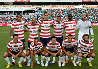 MEXICO CITY, MEXICO - AUGUST 15, 2012:  Starting eleven of the USA MNT during an international friendly match against Mexico at Azteca Stadium, in Mexico City, Mexico on August 15. USA won 1-0.