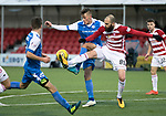 Hamilton Accies v St Johnstone&hellip;09.12.17&hellip;  New Douglas Park&hellip;  SPFL<br />Callum Hendry and Georgios Sarris<br />Picture by Graeme Hart. <br />Copyright Perthshire Picture Agency<br />Tel: 01738 623350  Mobile: 07990 594431