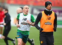2nd February 2020; New Douglas Park, Hamilton, South Lanarkshire, Scotland; Scottish Premiership, Hamilton Academical versus Celtic; Scott Brown of Celtic during the warm up