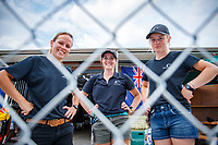 Team NZ Eventing Stable: SUPERGROOMS: Holly Fitzgerald; Lucy Miles; Tess Anderson. 2018 FEI World Equestrian Games Tryon. Monday 10 September. Copyright Photo: Libby Law Photography