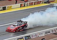 Apr. 7, 2013; Las Vegas, NV, USA: NHRA funny car driver Gary Densham during the Summitracing.com Nationals at the Strip at Las Vegas Motor Speedway. Mandatory Credit: Mark J. Rebilas-