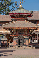 Nepal, Changu Narayan.  Kileshwor Temple, in the Changu Narayan Compound.  This temple survived the April 2015 earthquake.