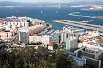 High density modern apartment block housing, Gibraltar, British overseas territory in southern Europe