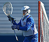 Jack Concannon #12, Hofstra University goalie, defends the net during a scrimmage against Hobart College at Hofstra University on Saturday, Feb. 4, 2017.