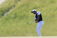 Joel Stalter (FRA) chips onto the 6th green during Friday's Round 2 of the 117th U.S. Open Championship 2017 held at Erin Hills, Erin, Wisconsin, USA. 16th June 2017.<br /> Picture: Eoin Clarke | Golffile<br /> <br /> <br /> All photos usage must carry mandatory copyright credit (&copy; Golffile | Eoin Clarke)