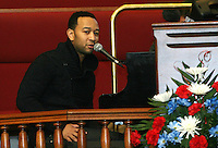 WASHINGTON D.C. - JANUARY 19:  John Legend performs at Shiloh Baptist Church during 'The House I Live In' Movie screening in Washington, D.C. January 19, 2013. Credit: mpi34/MediaPunch Inc. /NortePhoto