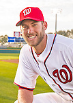 28 February 2016: Washington Nationals pitcher Taylor Jordan poses for his Spring Training Photo-Day portrait at Space Coast Stadium in Viera, Florida. Mandatory Credit: Ed Wolfstein Photo *** RAW (NEF) Image File Available ***