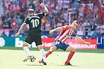 Atletico de Madrid's Gabi Fernandez; Gabi Fernandez and Sevilla's XXX during La Liga match between Atletico de Madrid and Sevilla FC at Wanda Metropolitano Stadium in Madrid, Spain September 23, 2017. (ALTERPHOTOS/Borja B.Hojas)