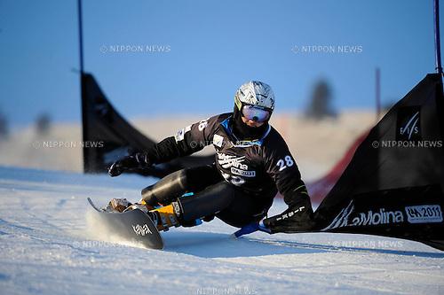 "?z""g³?÷/Masaki Shiba (JPN), ..JANUARY 22, 2011 - Snowboarding : ..Masaki Shiba of Japan competes at the men's Snowboard Parallel Slalom qualifying during the FIS Snowboard World Championships in La Molina, Spain. (Photo by Hiroyuki Sato/AFLO)"