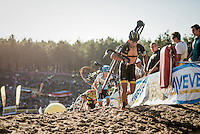 Tom Meeusen (BEL/Telenet-Fidea) coming out of 'The Pit'<br /> <br /> CX Superprestige Zonhoven 2016