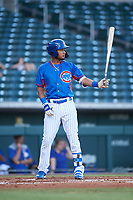 AZL Cubs 2 Luis Verdugo (17) at bat during an Arizona League game against the AZL Dbacks on June 25, 2019 at Sloan Park in Mesa, Arizona. AZL Cubs 2 defeated the AZL Dbacks 4-0. (Zachary Lucy/Four Seam Images)
