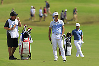 Thorbjorn Olesen (DEN) waits to play his 2nd shot on the 18th hole during Saturday's Round 3 of the 2017 PGA Championship held at Quail Hollow Golf Club, Charlotte, North Carolina, USA. 12th August 2017.<br /> Picture: Eoin Clarke | Golffile<br /> <br /> <br /> All photos usage must carry mandatory copyright credit (&copy; Golffile | Eoin Clarke)