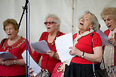 The Warblers singing group perform at Westbourne Festival, Paddington, London.
