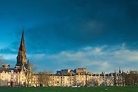 Edinburgh Castle from Bruntsfield Links, Edinburgh, Lothian